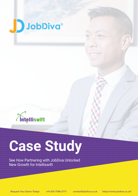 JobDiva Intelliswift Case Study Cover UK