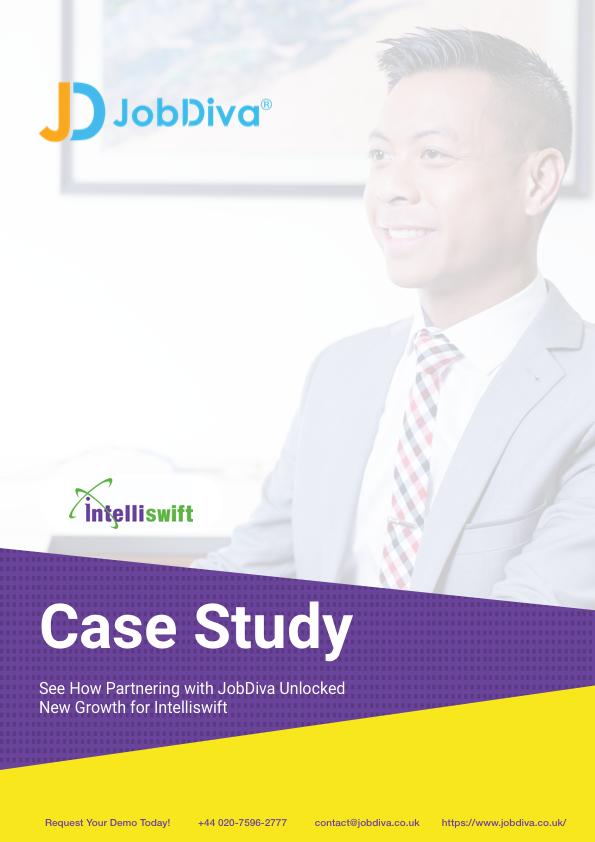 JobDiva Intelliswift Case Study Cover UK
