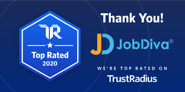 JobDiva Given 'Top Rated' Award in Applicant Tracking by TrustRadius for 2020
