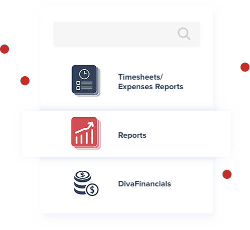 JobDiva's report Apps